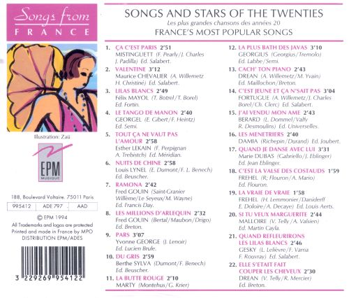 Songs and Stars of the Twenties: France's Most Popular Songs