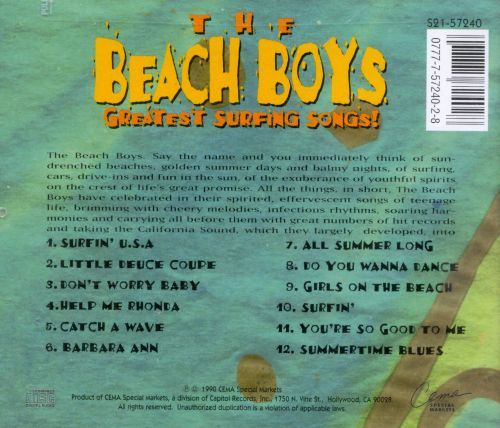 Capitol Special Markets Greatest Surfing Songs Capitol Special Markets