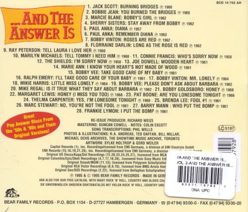 ...And the Answer Is: Great Pop Answer Discs from '50s-'60s, Vol. 2