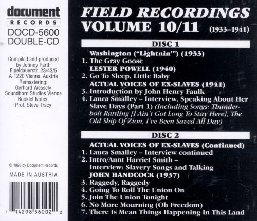Field Recordings, Vols. 10-11