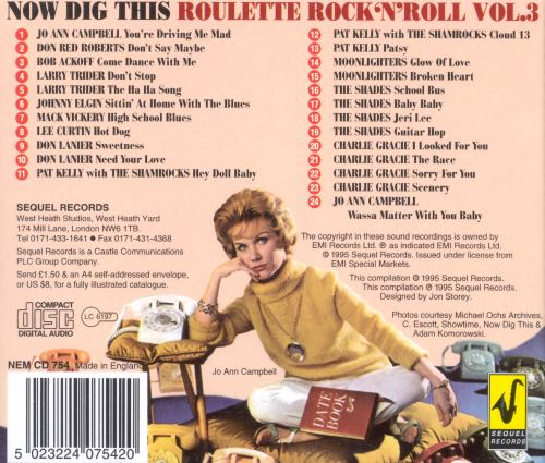 Roulette Rock & Roll, Vol. 3: Now Dig This