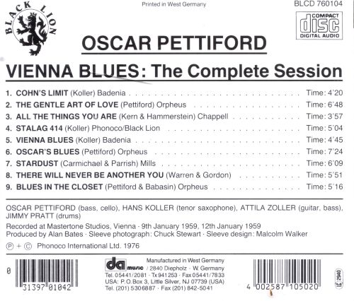 Vienna Blues: The Complete Sessions