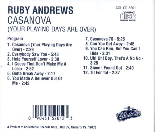 Casanova (Your Playing Days Are Over)