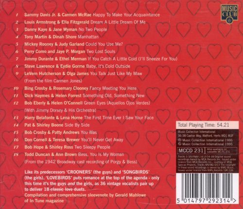 Lovebirds: 18 Classic Vocal Duets