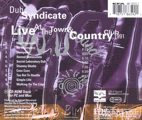 Live at the Town & Country Club, April 1991