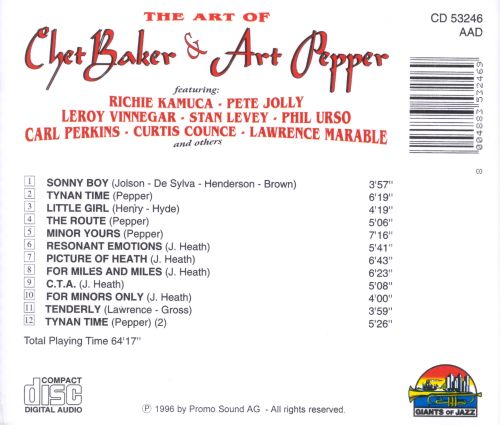 The Art of Chet Baker & Art Pepper