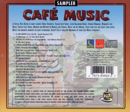 Cafe Music: Cafe Music Sampler