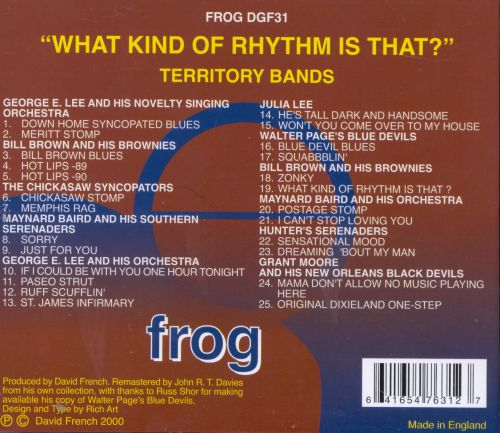 Territory Bands: What Kind of Rhythm Is That