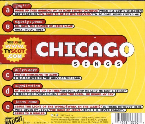 Chicago Sings: Gospel's Greatest Hymns, Vol. 1