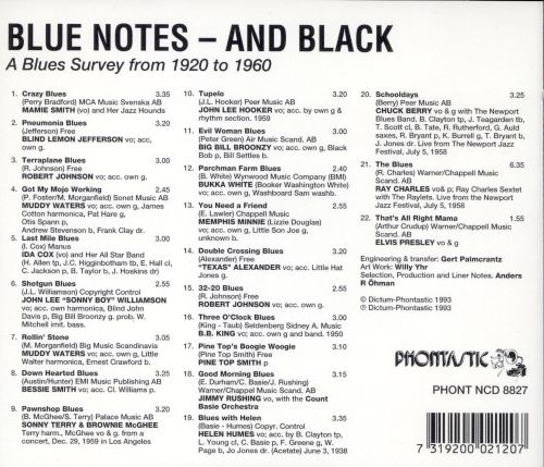 Blues Notes and Black: A Blues Surve