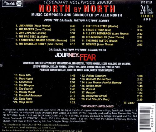 North by North / Journey into Fear [Original Motion Picture Soundtrack]