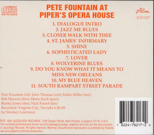 Pete Fountain at Piper's Opera House