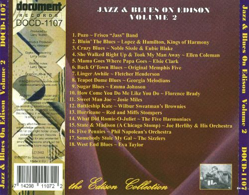 Jazz & Blues on Edison, Vol. 2