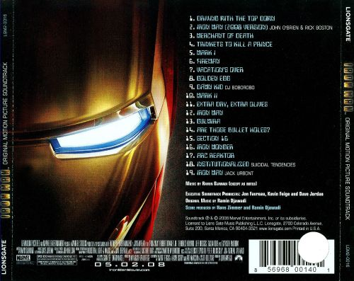 Iron Man Original Motion Picture Soundtrack Ramin