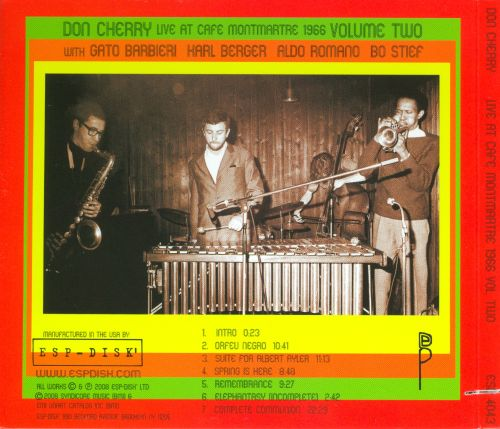 Live at Cafe Montmartre 1966, Vol. 2