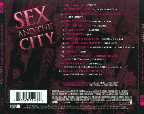 Sex and the city soundtrack listing
