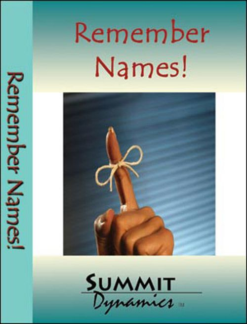 Remember Names with Self Hypnosis Training