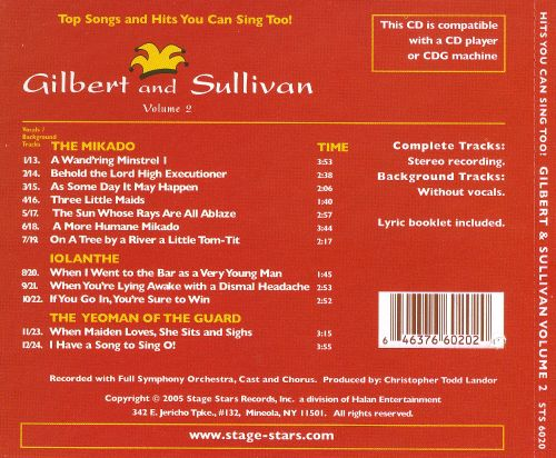 Gilbert and Sullivan Karaoke, Vol. 2