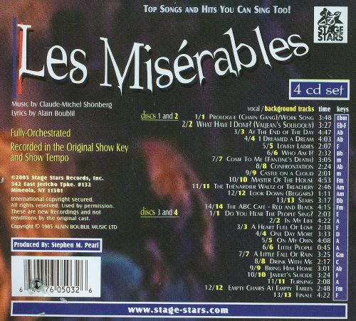Karaoke: Les Miserables: Hits You Can Sing To