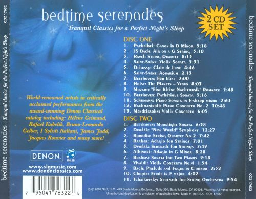 Bedtime Serenades: Tranquil Classics for the Perfect Night's Sleep