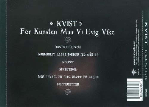 For Kunsten Maa Vi Evig Vike