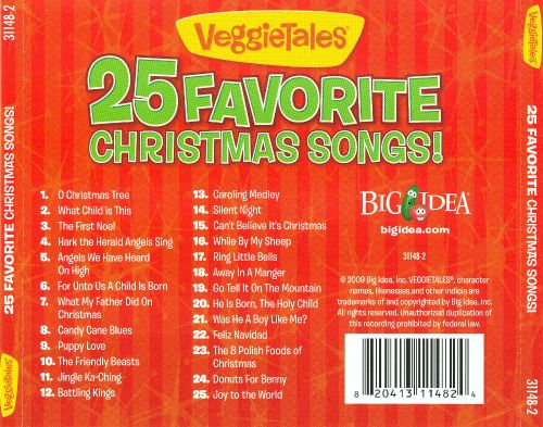 25 Favorite Christmas Songs! - VeggieTales | Songs, Reviews ...