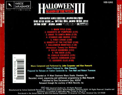 Halloween III: Season of the Witch [Original Motion Picture Soundtrack]
