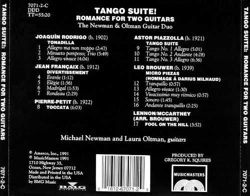 Tango Suite! Romance for Two Guitars