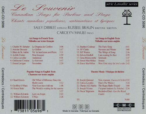 Le Souvenir: Canadian Songs for Parlour and Stage