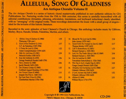 Alleluia, Song of Gladness