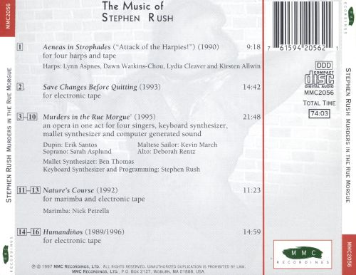 Murders in the Rue Morgue: The Music of Stephen Rush
