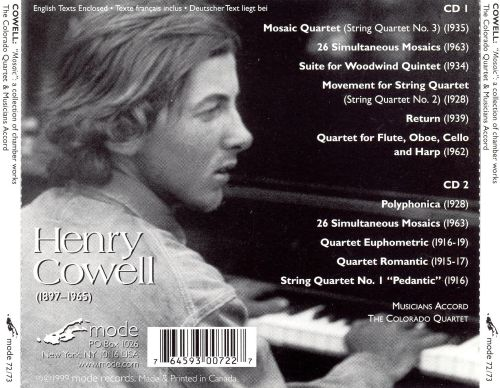 Henry Cowell: Mosaic