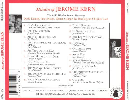 Melodies of Jerome Kern: The 1955 Walden Sessions