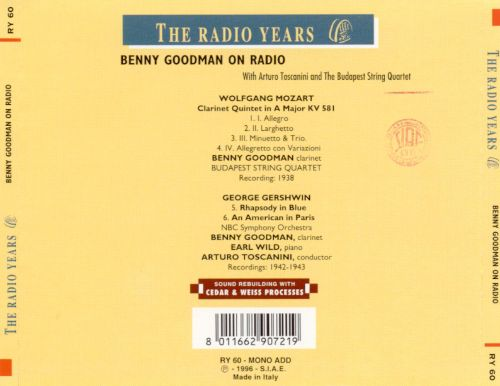 Benny Goodman On Radio