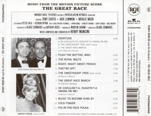 The Great Race (Music from the Film Score)