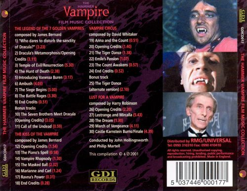 The Hammer Vampire Film Music Collection