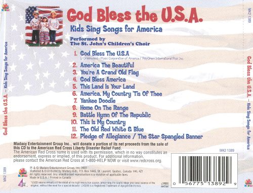 God Bless the U.S.A.: Kids Sing Songs for America