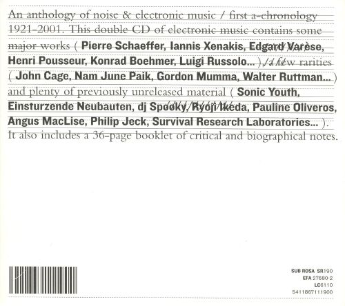 An Anthology of Noise & Electronic Music: First A-Chronology 1921-2001