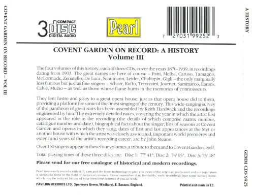Covent Garden On Record: A History, Volume III