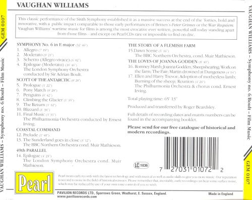 Vaughan Williams: Symphony No. 6 and Film Music