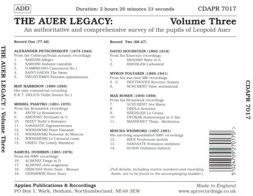 The Auer Legacy, Vol. 3