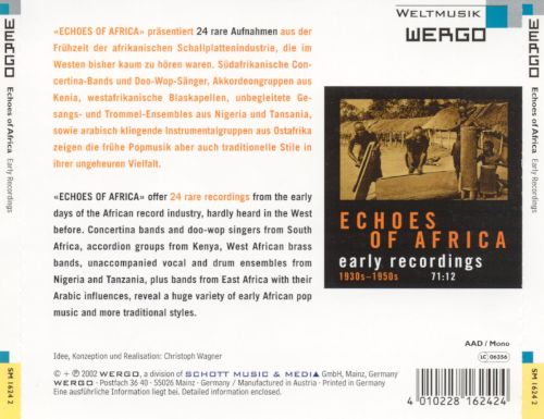 Echoes of Africa: Early Recordings