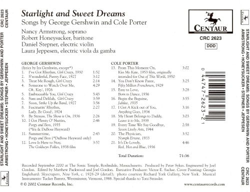 Starlight and Sweet Dreams: Songs by George Gershwin and Cole Porter