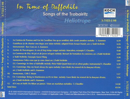 In Time of Daffodils: Songs of the Trobairitz-Heliotrope