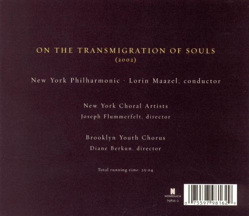 John Adams: On the Transmigration of Souls