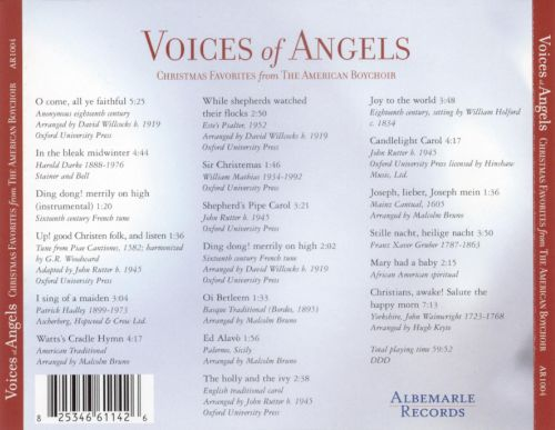 Voices of Angles: Christmas Favorites from the American Boychoir