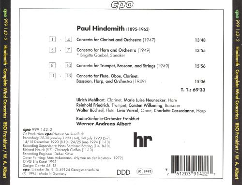 Hindemith: Complete Wind Concertos