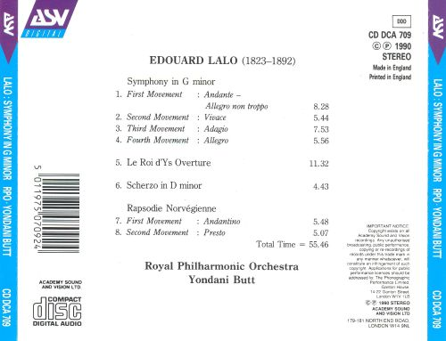 Lalo: Symphony in G minor