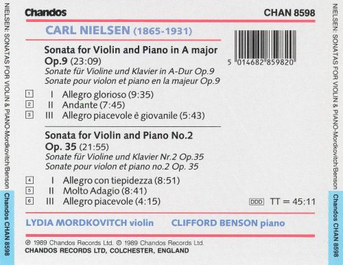 Nielsen: Sonatas for Violin and Piano