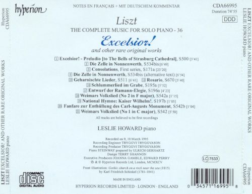 Liszt: Excelsior! and Other Rare Original Works
